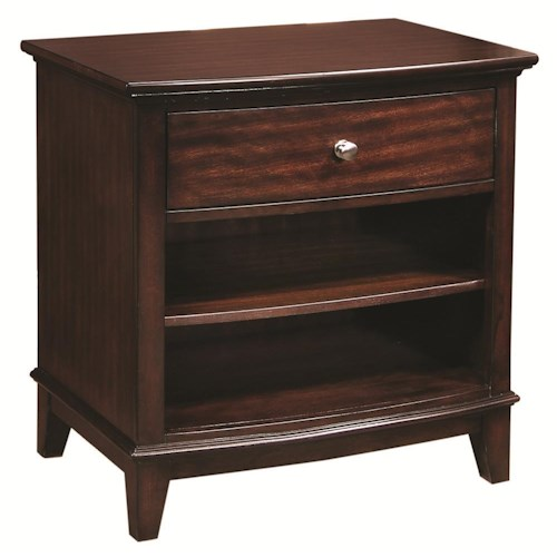 Morris Home Furnishings Lincoln Park Single Drawer Nightstand