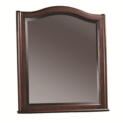 Morris Home Furnishings Lincoln Park Arched Dresser Mirror