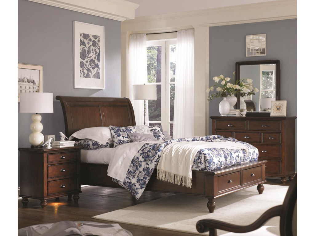 Shown with Chesser, Sleigh Storage Bed, and Liv360 Nightstand