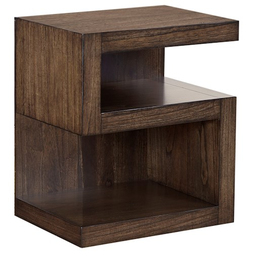 Aspenhome Modern Loft S Nightstand with 2 Shelves