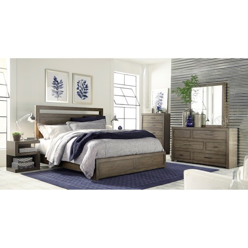 Aspenhome Modern Loft Queen Bedroom Group