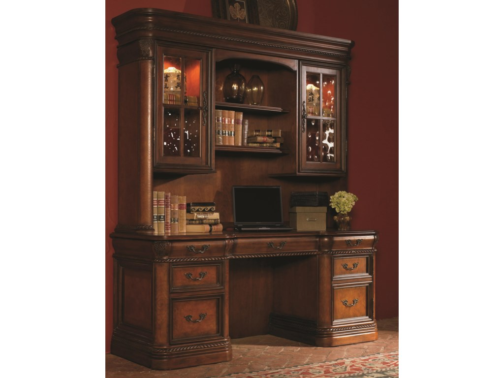 Shown with Credenza Hutch