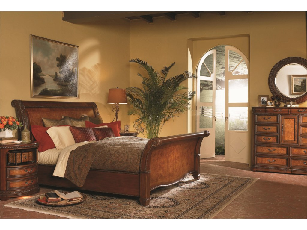 Shown with Chesser, Chesser Oval Mirror and Round Nightstand