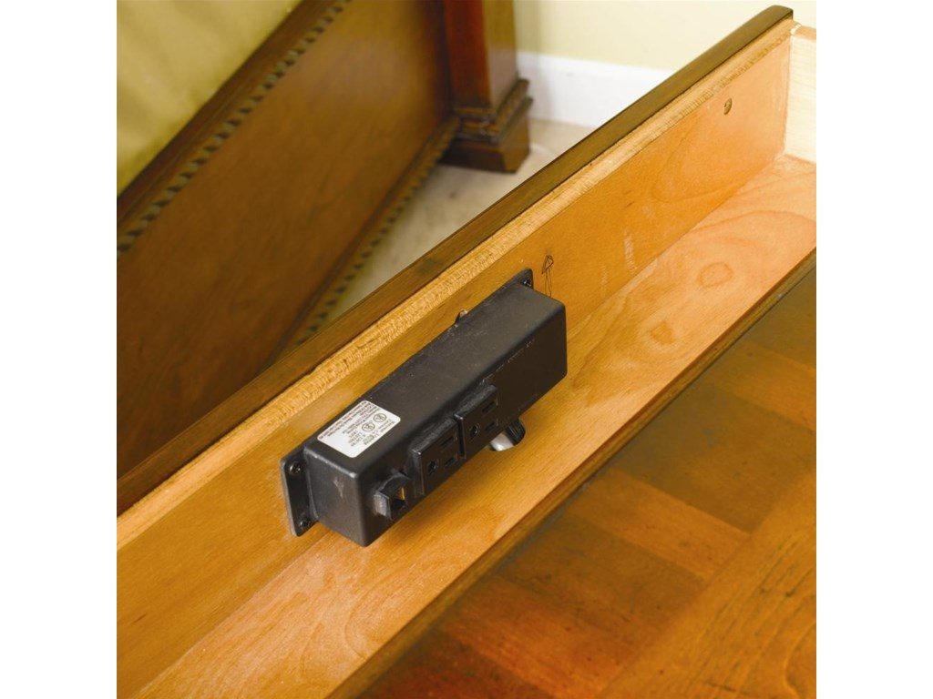 This image shows the A/C and phone outlets.