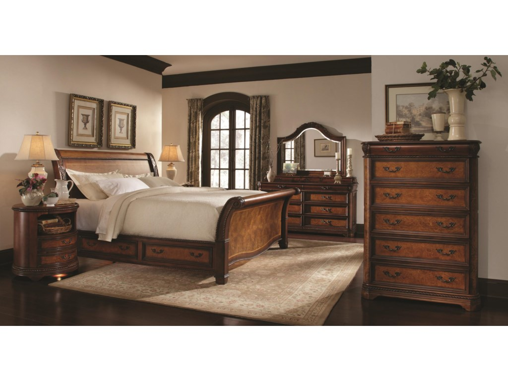 Shown with Storage Sleigh Bed, Nightstand and Drawer Chest
