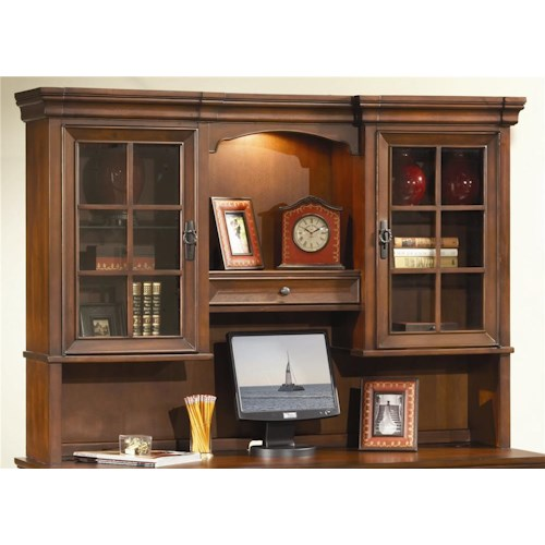 Aspenhome Richmond 66 Inch Credenza Desk Hutch