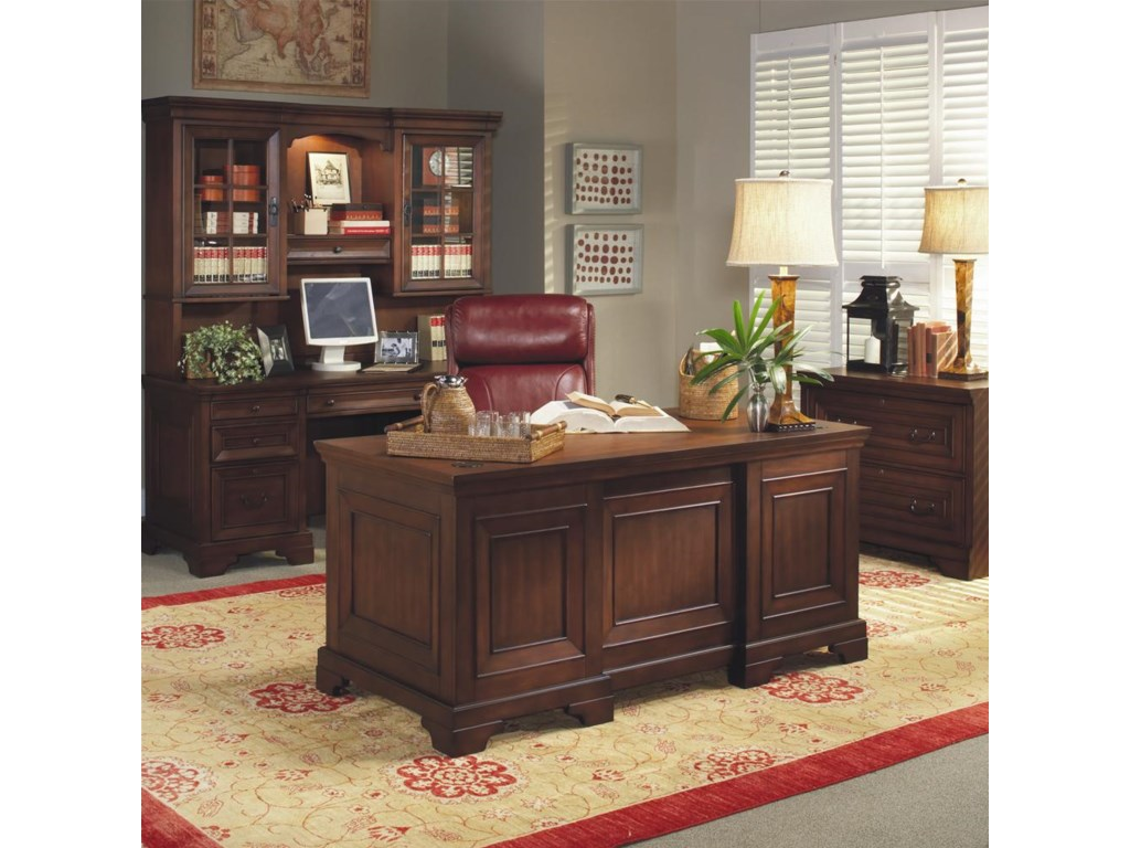 Shown with Executive Desk and Credenza Desk and Hutch