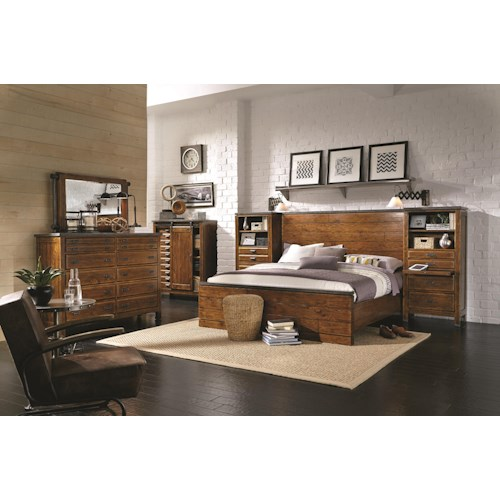 Morris Home Furnishings Rockland King Bedroom Group