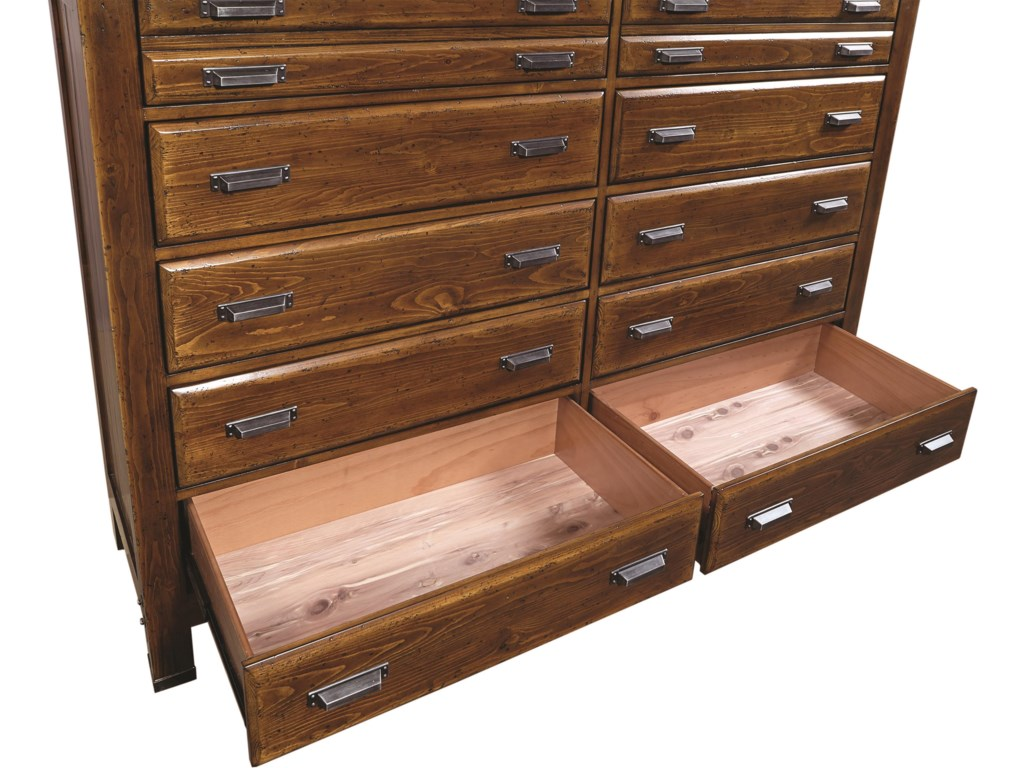 Cedar Lined Bottom Drawers