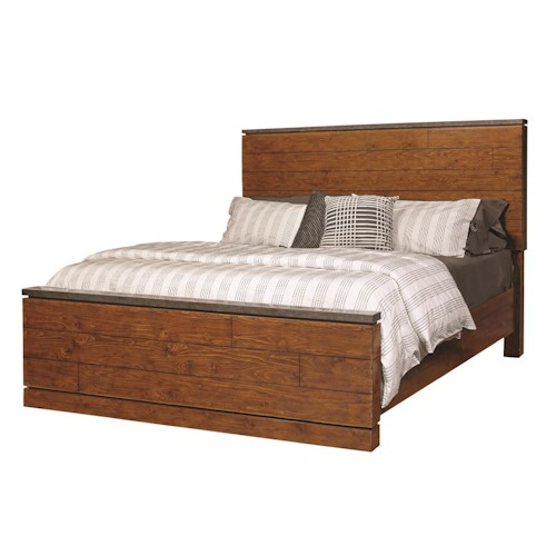Morris Home Furnishings Rockland Queen Panel Bed with Lamp Assist Touch Lighting