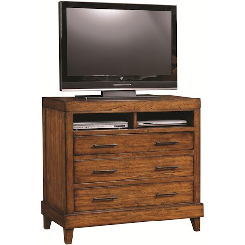 Aspenhome Tamarind Liv360 Entertainment Chest with AC Outlets & Laptop Connections