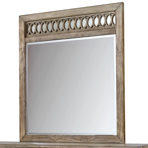 Aspenhome Tildon Fret Mirror with Circle Pattern