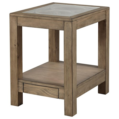 Aspenhome Tildon Chairside Table with Power Outlets