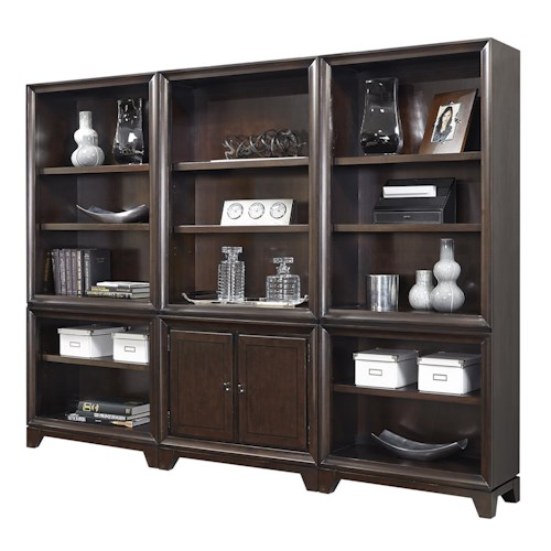 Aspenhome Viewscape Bookcase with Nine Adjustable Shelves