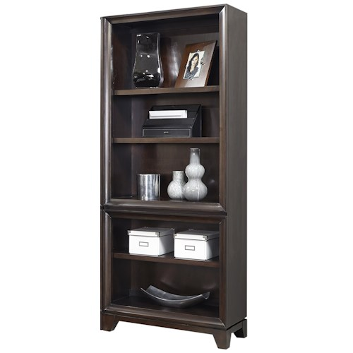 Morris Home Furnishings Viewscape Open Bookcase with 3 Adjustable Shelves