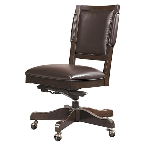 Aspenhome Viewscape Armless Bonded Leather Chair