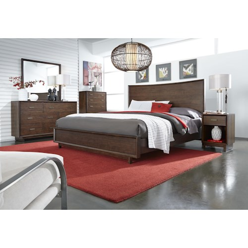 Morris Home Furnishings Walnut Heights Queen Bedroom Group 3