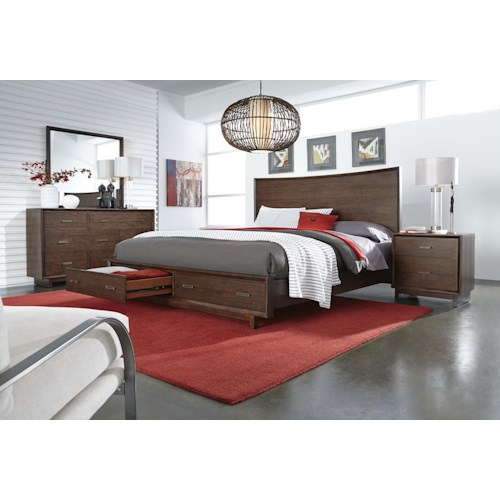 Aspenhome Walnut Heights Queen Bedroom Group 4
