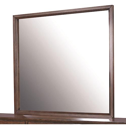 Morris Home Furnishings Walnut Heights Wood Framed Mirror
