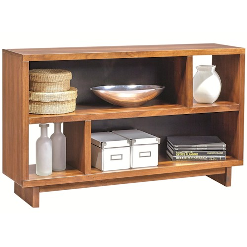 Morris Home Furnishings Walnut Heights Console Table with Shelf