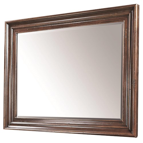 Morris Home Furnishings Westbrooke Square Mirror with Beveled Glass