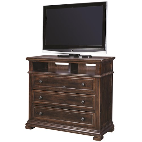 Morris Home Furnishings Westbrooke Liv360 Entertainment Chest with Workstation