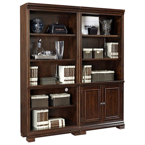 Aspenhome Weston Bookcase Wall with Cord Access