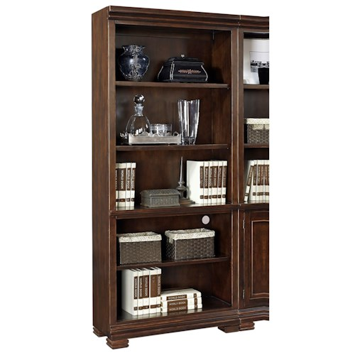 Aspenhome Weston Open Bookcase  with 3 Adjustable Shelves