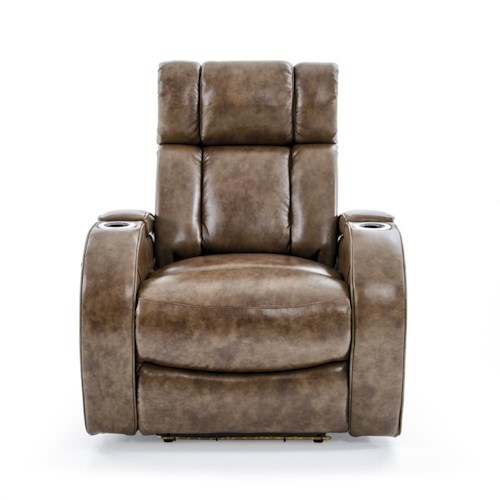 Ausen AS4061 Power Recliner with Power Adjustable Headrest and Lighting Cupholders