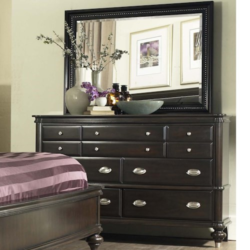 Avalon Furniture Dundee Place Dresser And Mirror Set With 7 Drawers Pilgrim Furniture City