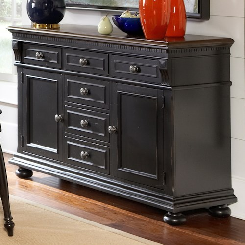 Avalon Furniture Rivington Hall Traditional Two-Tone Sideboard