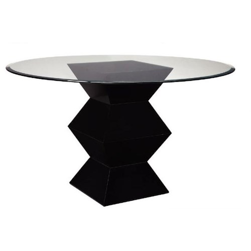Bailey Street Accents Hohner Table with Round Glass Top