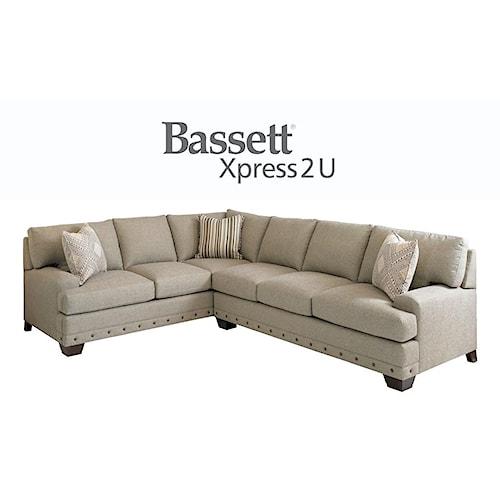 Bassett Carmine Custom Order RAF or LAF 2 Piece Sectional
