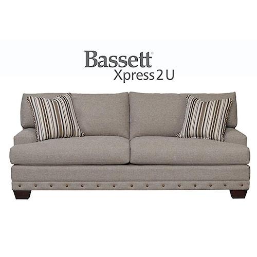 Bassett Carmine Custom Order Queen Sofa Sleeper