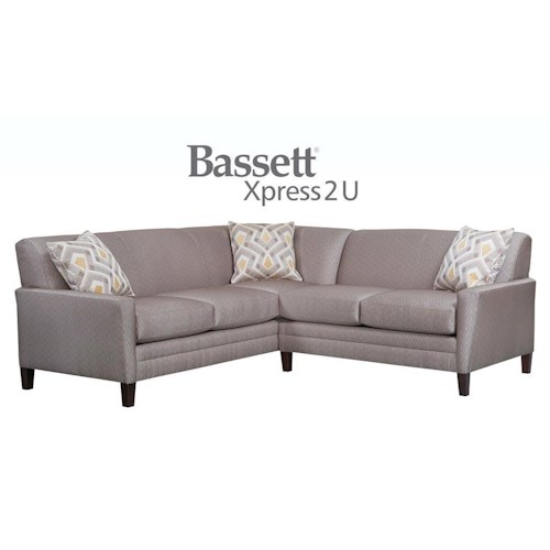 Bassett Drake Custom Order 2 Piece Sectional