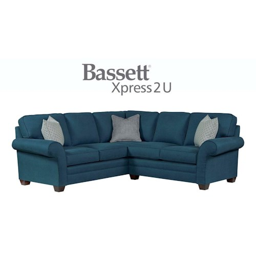 Bassett Brooke Custom Order 2 Piece Sectional