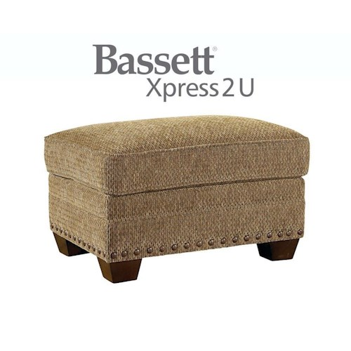 Bassett Riverton Custom Order Ottoman