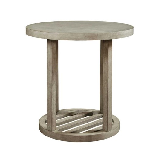 Bassett Lincoln Park Special Order Round End Table