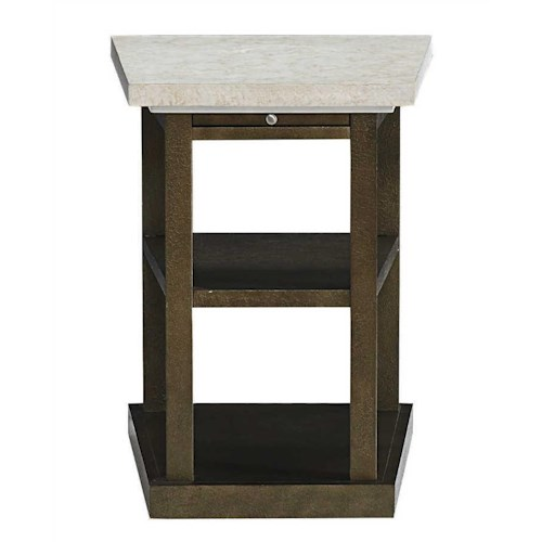 Bassett Logan Square Special Order Chairside Wedge Table