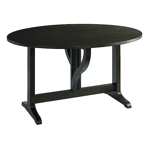 Bassett Provence Espresso Gate Leg Console Table