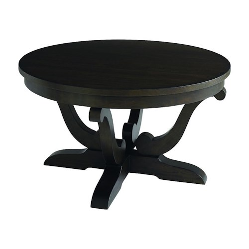 Bassett Provence Espresso Round Cocktail Table