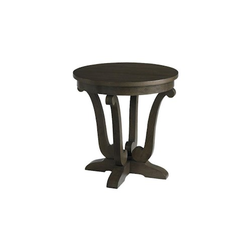 Bassett Provence Espresso Round Lamp Table
