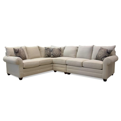 Bassett Alex 3989 Three Piece Sectional