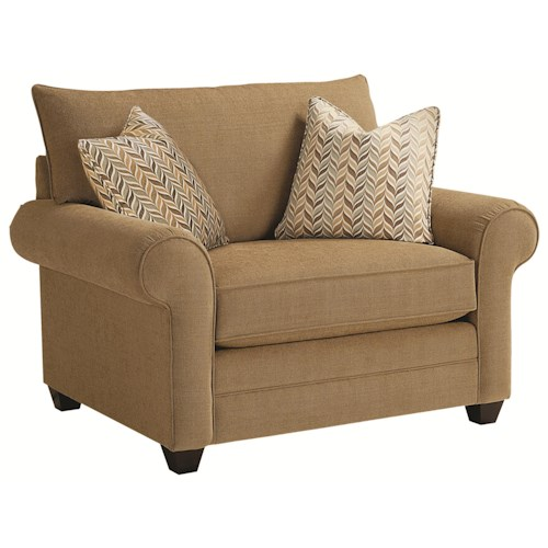 Bassett Alex Casual Upholstered Chair and a Half