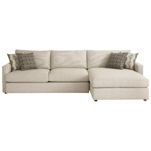Bassett Allure 2611 by Bassett Contemporary Sectional with Right Arm Facing Chaise