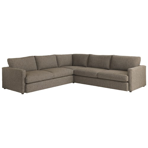 Bassett Allure 2611 by Bassett Contemporary Sectional with 4 Seats