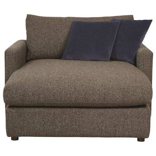 Bassett Allure 2611 by Bassett Contemporary Chaise with Track Arms