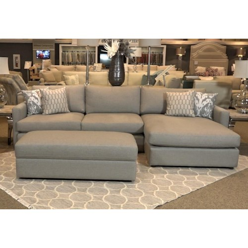 Bassett Allure 2611 by Bassett Two Piece Sectional in Dove