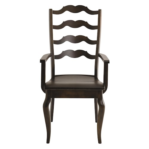 Bassett Bench Made Greyson Arm Chair with Elegant Styled Back