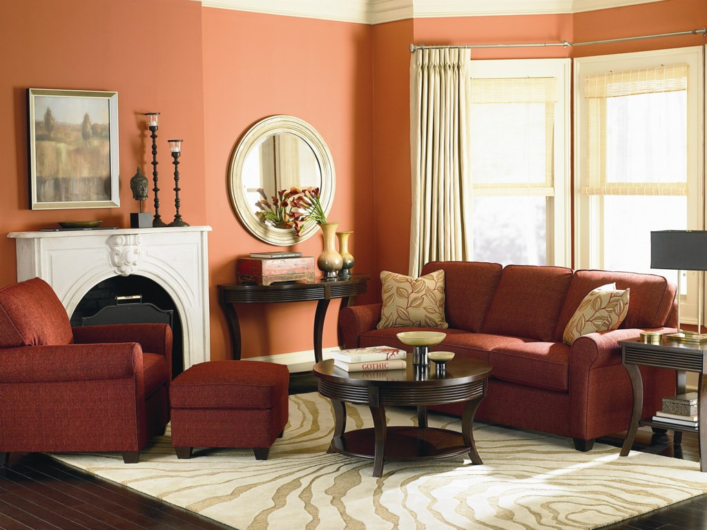 Shown in Living Room with Matching Ottoman and Sofa